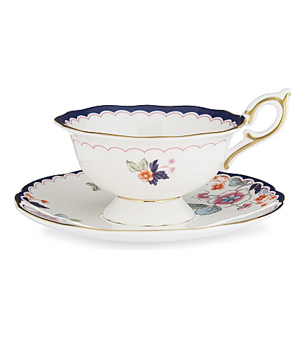 WEDGWOOD Wonderlust Jasmine Bloom teacup and saucer