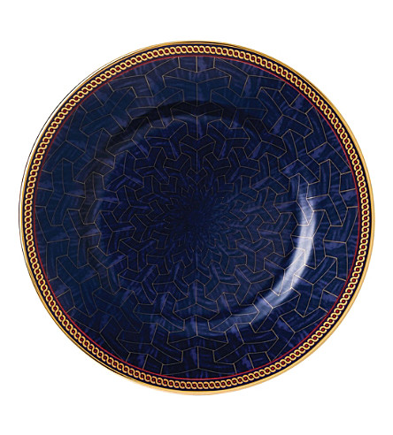 WEDGWOOD Byzance fine bone china and 22ct gold plate 15cm