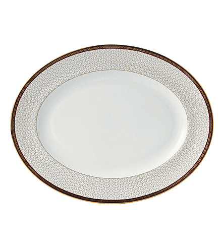 WEDGWOOD Byzance fine bone china and 22ct gold platter 33cm