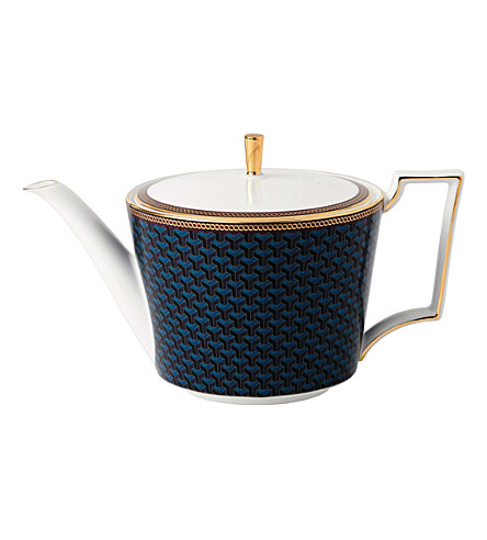 WEDGWOOD Byzance fine bone china and 22ct gold teapot