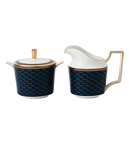 WEDGWOOD Byzance 细骨瓷和22ct 糖碗和乳霜壶