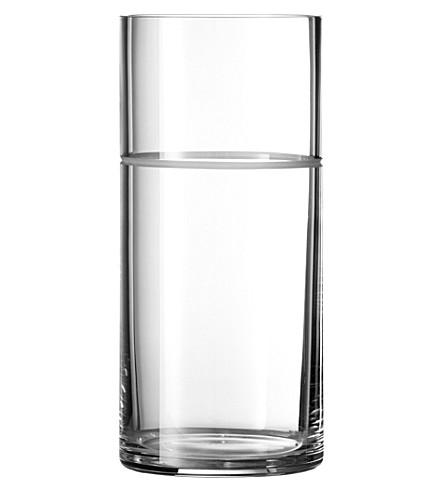 VERA WANG @ WEDGWOOD Bande crystalline vase 23cm