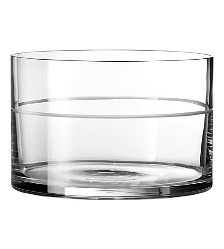 VERA WANG @ WEDGWOOD Bande crystal bowl 21.5cm