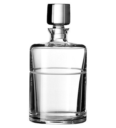 VERA WANG @ WEDGWOOD Bande crystal spirits decanter