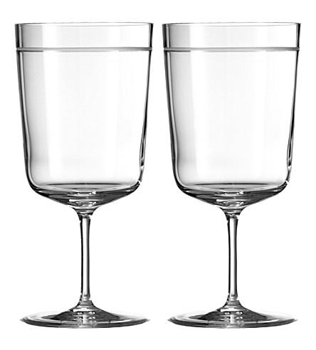 VERA WANG @ WEDGWOOD Bande crystal goblets pair