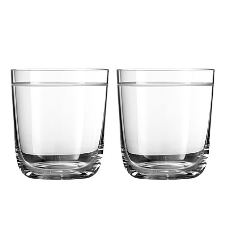 VERA WANG @ WEDGWOOD Set of two crystal tumblers