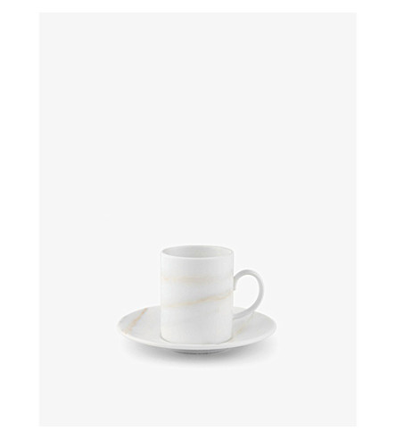 VERA WANG @ WEDGWOOD Venato Imperial china espresso cup and saucer set