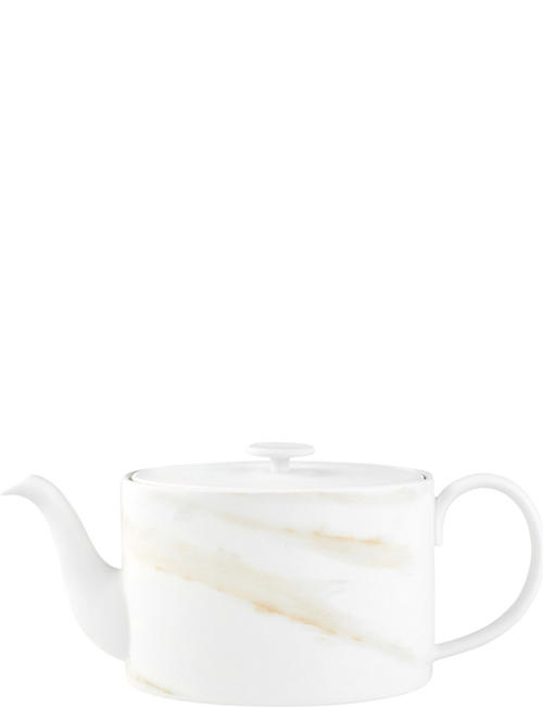 VERA WANG @ WEDGWOOD Venato Imperial marbled china teapot 1l