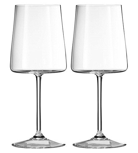 VERA WANG @ WEDGWOOD Metropolitan crystalline set of two wine goblets