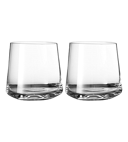 VERA WANG @ WEDGWOOD Metropolitan crystalline set of two tumblers