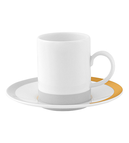 VERA WANG @ WEDGWOOD Striped china espresso cup and saucer