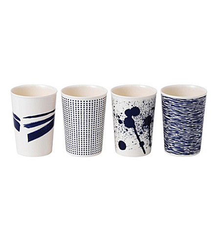ROYAL DOULTON Set of four pacific melamine tumblers
