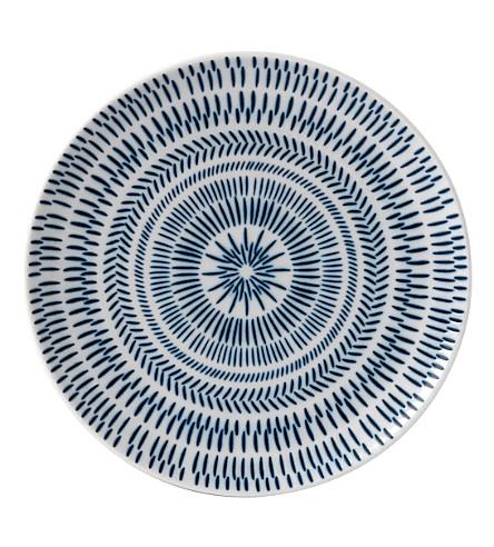 ROYAL DOULTON Ellen De Generes Cobalt Blue Chevron plate 21cm