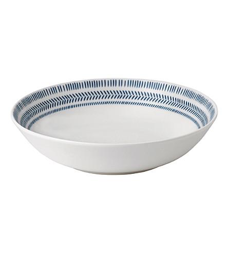 ROYAL DOULTON Ellen De Generes Cobalt Blue Chevron bowl 24cm