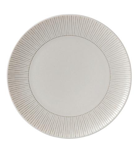 ROYAL DOULTON 艾伦 · 德杰尼勒斯灰褐色条纹陶瓷板 21 厘米