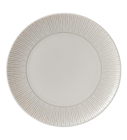 ROYAL DOULTON Ellen DeGeneres Taupe Stripe porcelain plate 21cm