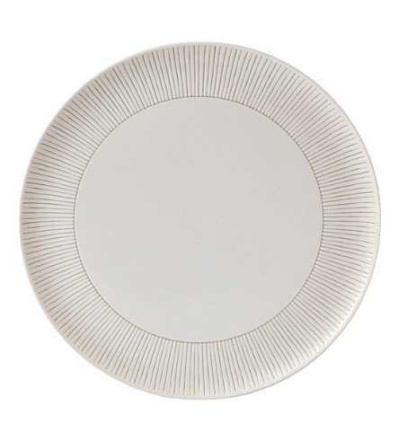ROYAL DOULTON 艾伦 · 德杰尼勒斯灰褐色条纹瓷器拼盘 32 厘米
