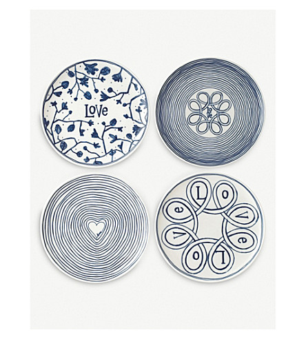 ROYAL DOULTON Ellen DeGeneres Accent set of 4 plates