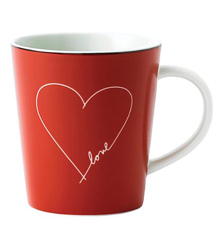 ROYAL DOULTON Ellen DeGeneres Love Heart porcelain mug