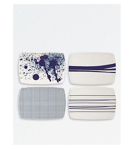 ROYAL DOULTON Pacific porcelain serving boards set of four