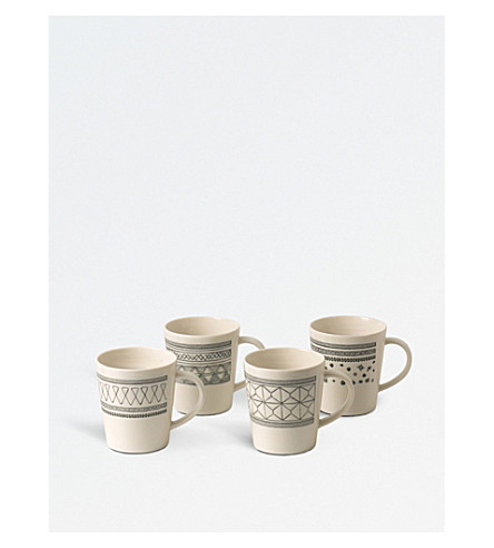 WEDGWOOD Ellen DeGeneres porcelain mugs set of four