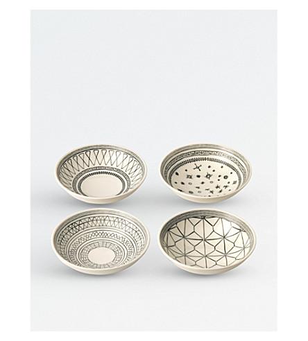 WEDGWOOD Ellen DeGeneres porcelain charcoal grey bowls 14cm set of four
