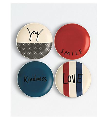 WEDGWOOD Ellen DeGeneres joy side plates set of four 16cm