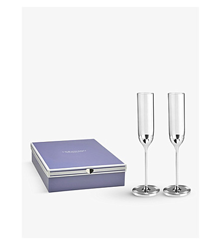 VERA WANG @ WEDGWOOD Love Always crystal toasting flutes (set of two)