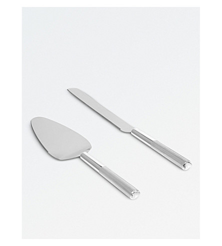 VERA WANG @ WEDGWOOD Love Always silver cake knife and serving spoon set