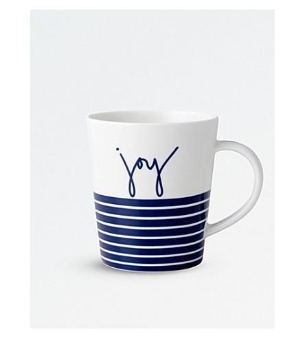ROYAL DOULTON ED Ellen Degeneres blue stripe joy porcelain mug
