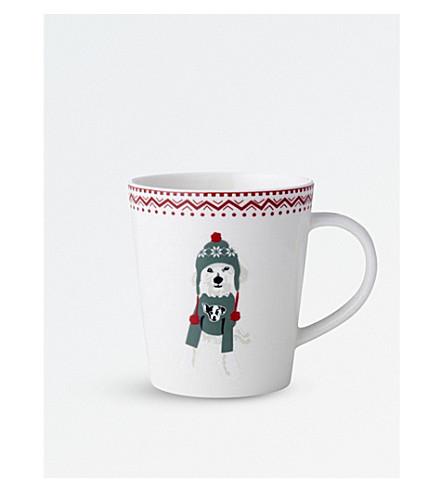 ROYAL DOULTON ED Ellen Degeneres Wolf the Dog porcelain mug