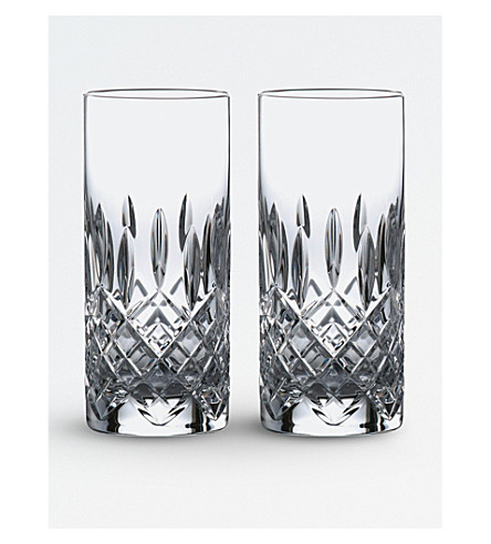 ROYAL DOULTON Highclere crystal glass Hi Ball (set of 2)