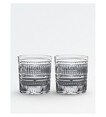 ROYAL DOULTON Radial crystal tumblers (set of 2)