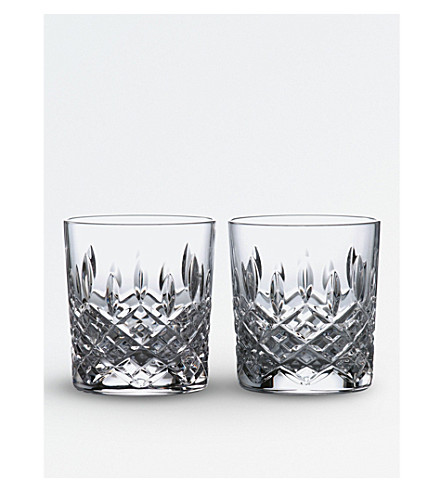 ROYAL DOULTON Highclere crystal glass tumblers (set of 2)