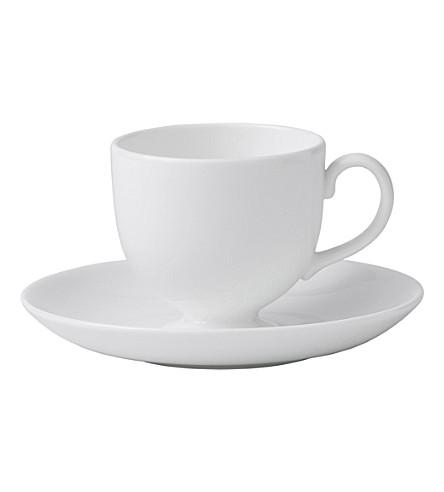 WEDGWOOD White espresso saucer