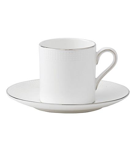 VERA WANG @ WEDGWOOD Blanc sur Blanc coffee saucer