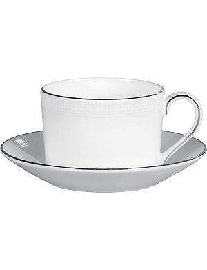 VERA WANG @ WEDGWOOD Blanc sur Blanc tea saucer