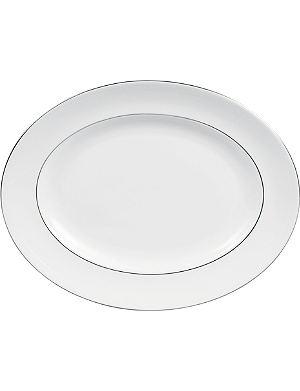 VERA WANG @ WEDGWOOD Blanc sur Blanc oval dish 36cm