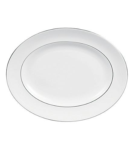 VERA WANG @ WEDGWOOD Blanc sur Blanc oval dish 39cm