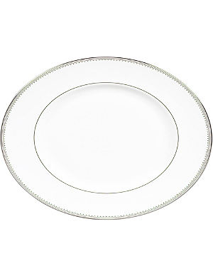 VERA WANG @ WEDGWOOD Grosgrain oval dish 40cm