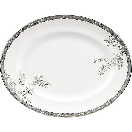 VERA WANG @ WEDGWOOD Lace Platinum small oval dish