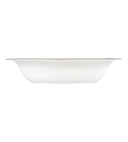 VERA WANG @ WEDGWOOD Lace Platinum open vegetable dish