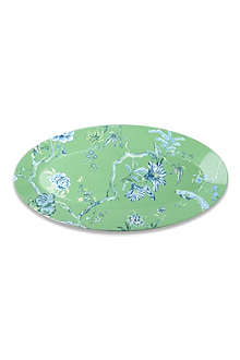 WEDGWOOD Chinoiserie oval platter green 45cm