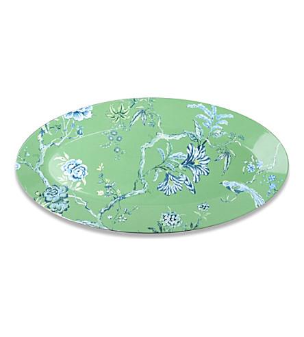 JASPER CONRAN @ WEDGWOOD Chinoiserie oval platter green 45cm (Green