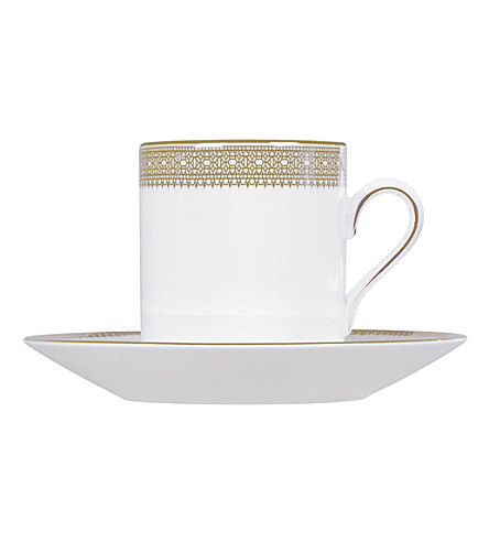 VERA WANG @ WEDGWOOD Lace Gold bond coffee saucer