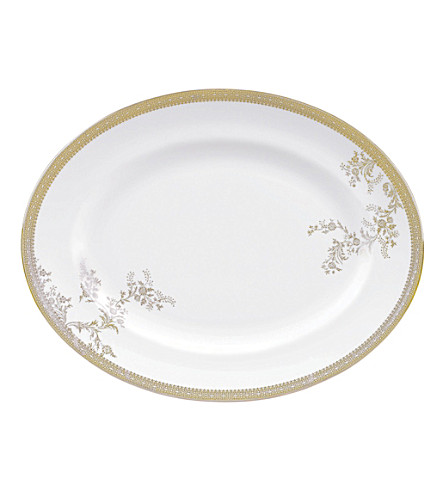 VERA WANG @ WEDGWOOD Lace Gold small oval dish