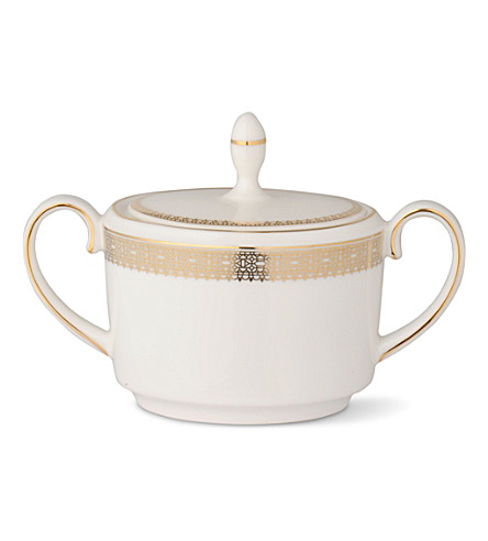 VERA WANG @ WEDGWOOD Lace Gold sugar box