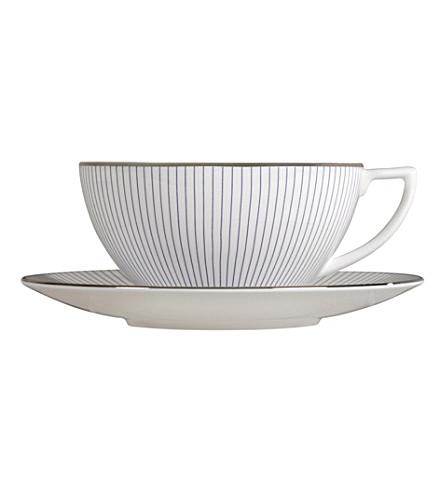 JASPER CONRAN @ WEDGWOOD Pinstripe large tea saucer