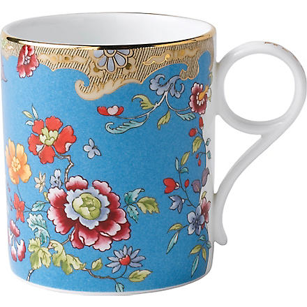 WEDGWOOD Archive Collection turquoise floral mug