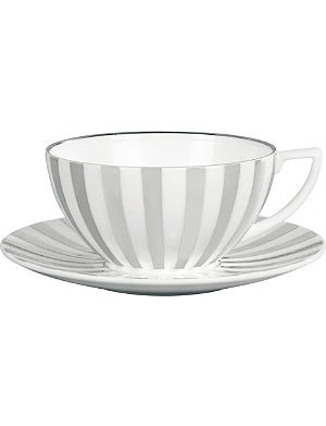 JASPER CONRAN @ WEDGWOOD Platinum Striped teacup
